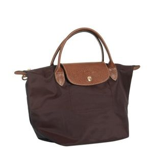 Handbags - Longchamp small handbag chocolate . Like new